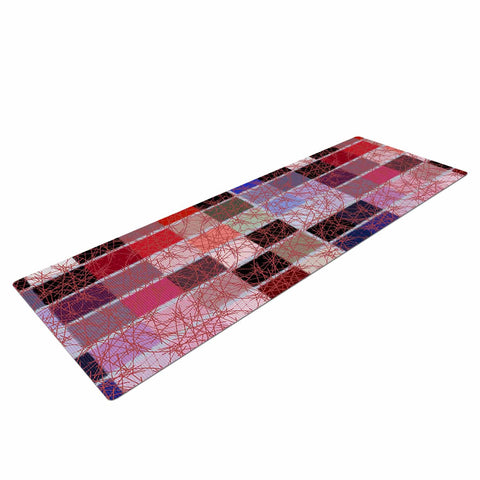 "Laura Nicholson ""Ruby Tiles"" Pink Red Yoga Mat - KESS InHouse  - 1"