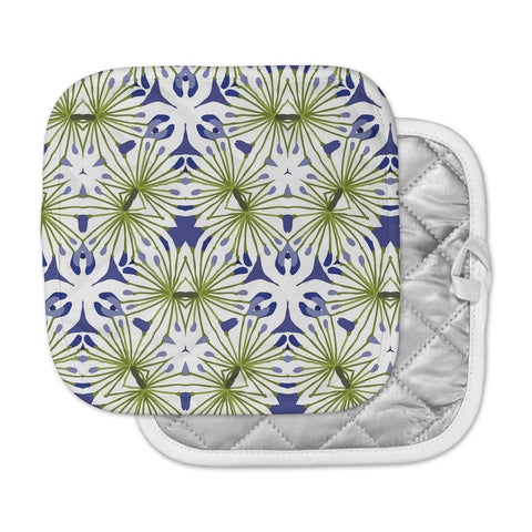 "Laura Nicholson ""Thalia"" Olive Floral Pot Holder"