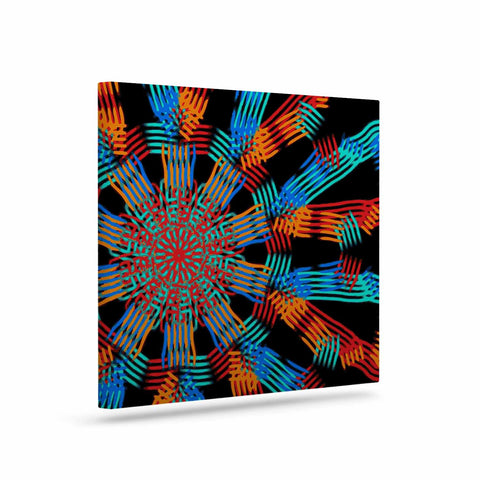 "Laura Nicholson ""Ribbon Ring"" Black Abstract Canvas Art - KESS InHouse  - 1"