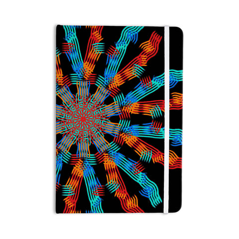 "Laura Nicholson ""Ribbon Ring"" Black Abstract Everything Notebook - KESS InHouse  - 1"