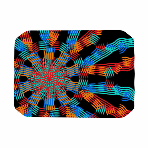 "Laura Nicholson ""Ribbon Ring"" Black Abstract Place Mat - KESS InHouse"