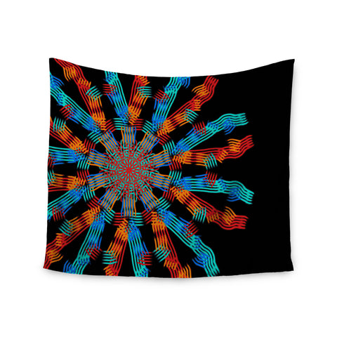 "Laura Nicholson ""Ribbon Ring"" Black Abstract Wall Tapestry - KESS InHouse  - 1"