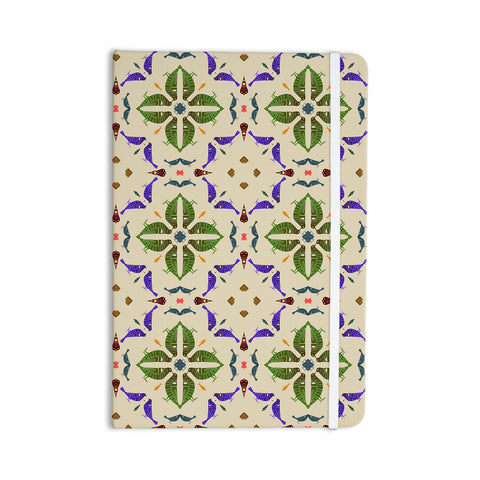 "Laura Nicholson ""Kissing Budgies"" Geometric Beige Everything Notebook - KESS InHouse  - 1"