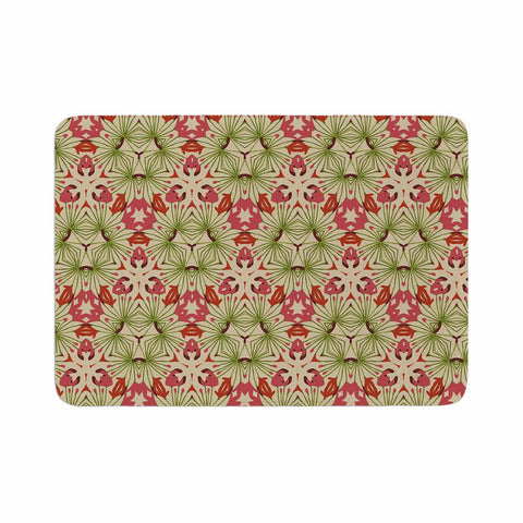 "Laura Nicholson ""Thalia, Pink"" Floral Abstract Memory Foam Bath Mat - KESS InHouse"