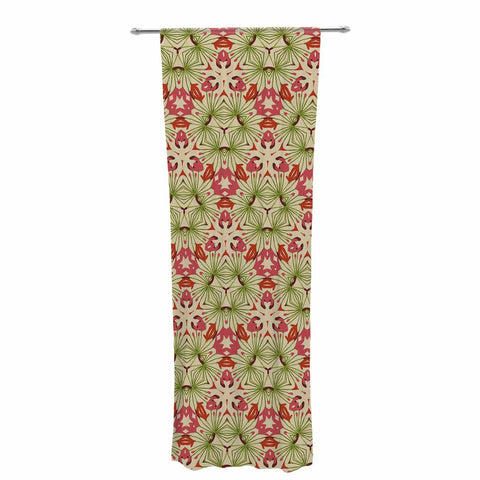 "Laura Nicholson ""Thalia, Pink"" Floral Abstract Decorative Sheer Curtain - KESS InHouse  - 1"