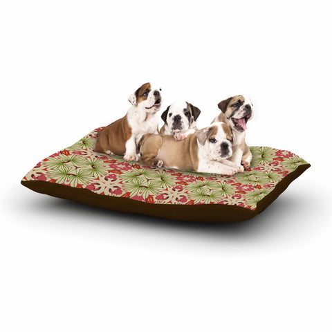 "Laura Nicholson ""Thalia, Pink"" Floral Abstract Dog Bed - KESS InHouse  - 1"