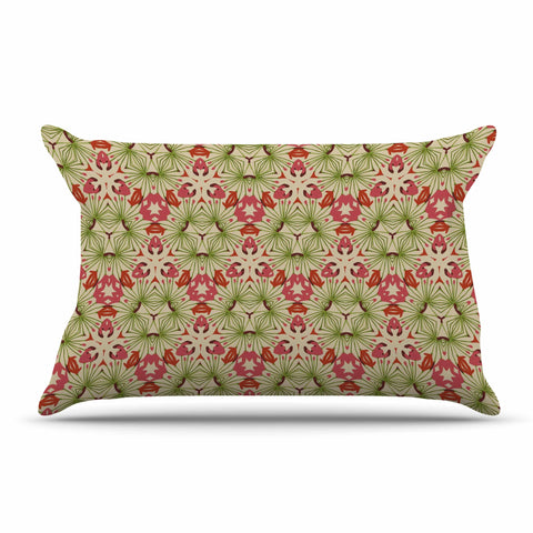 "Laura Nicholson ""Thalia, Pink"" Floral Abstract Pillow Sham - KESS InHouse  - 1"