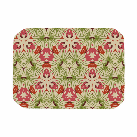 "Laura Nicholson ""Thalia, Pink"" Floral Abstract Place Mat - KESS InHouse"