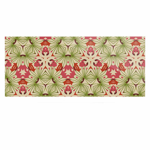 "Laura Nicholson ""Thalia, Pink"" Floral Abstract Luxe Rectangle Panel - KESS InHouse  - 1"