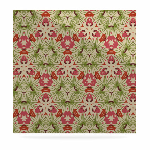 "Laura Nicholson ""Thalia, Pink"" Floral Abstract Luxe Square Panel - KESS InHouse  - 1"