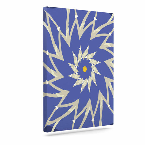 "Laura Nicholson ""Sawtooth Flower"" Blue Nature Canvas Art - KESS InHouse  - 1"