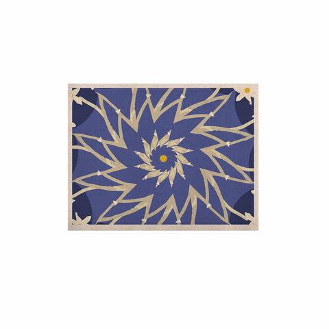 "Laura Nicholson ""Sawtooth Flower"" Blue Nature KESS Naturals Canvas (Frame not Included) - KESS InHouse  - 1"