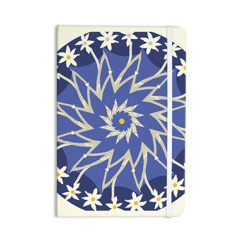 "Laura Nicholson ""Sawtooth Flower"" Blue Nature Everything Notebook - KESS InHouse  - 1"