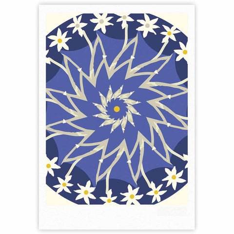 "Laura Nicholson ""Sawtooth Flower"" Blue Nature Fine Art Gallery Print - KESS InHouse"