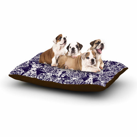 "Laura Nicholson ""Loony Lace"" Blue Illustration Dog Bed - KESS InHouse  - 1"