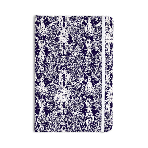 "Laura Nicholson ""Loony Lace"" Blue Illustration Everything Notebook - KESS InHouse  - 1"