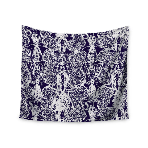 "Laura Nicholson ""Loony Lace"" Blue Illustration Wall Tapestry - KESS InHouse  - 1"