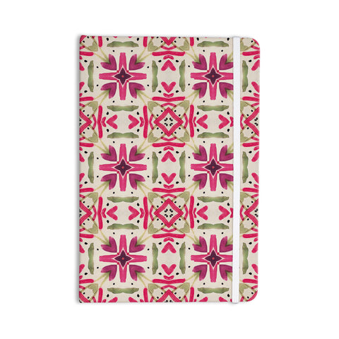 "Laura Nicholson ""Echinacea Garden"" Magenta Geometric Everything Notebook - KESS InHouse  - 1"