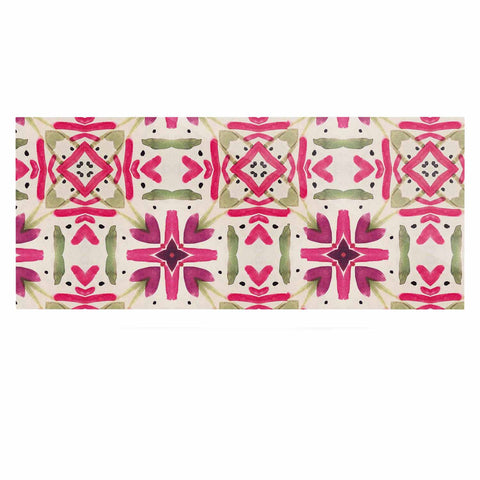 "Laura Nicholson ""Echinacea Garden"" Magenta Geometric Luxe Rectangle Panel - KESS InHouse  - 1"