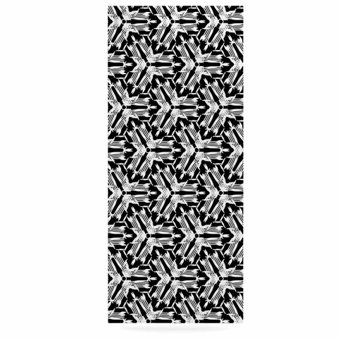 "Laura Nicholson ""Y Knot"" Black White Luxe Rectangle Panel - KESS InHouse  - 1"