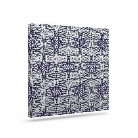 "Laura Nicholson ""Star Power"" Blue Geometric Canvas Art - KESS InHouse  - 1"