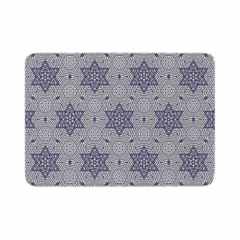 "Laura Nicholson ""Star Power"" Blue Geometric Memory Foam Bath Mat - KESS InHouse"