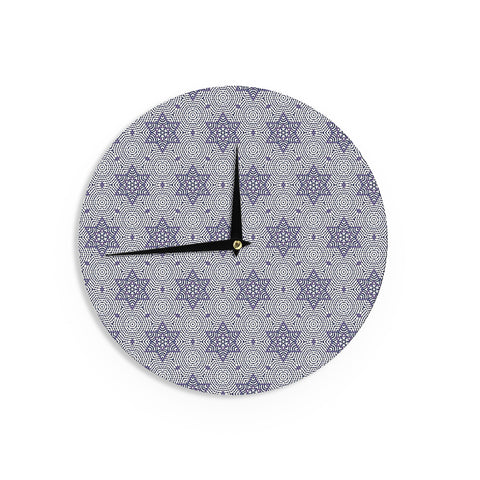 "Laura Nicholson ""Star Power"" Blue Geometric Wall Clock - KESS InHouse"