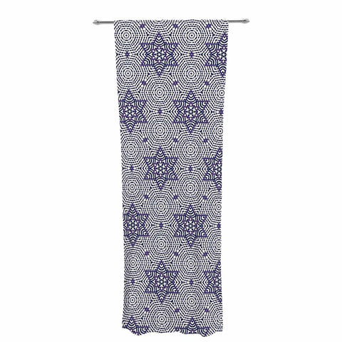 "Laura Nicholson ""Star Power"" Blue Geometric Decorative Sheer Curtain - KESS InHouse  - 1"