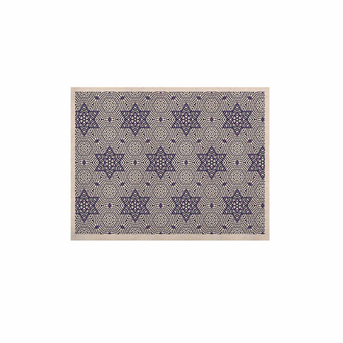 "Laura Nicholson ""Star Power"" Blue Geometric KESS Naturals Canvas (Frame not Included) - KESS InHouse  - 1"
