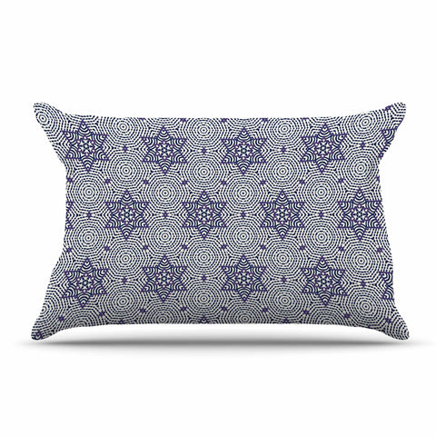 "Laura Nicholson ""Star Power"" Blue Geometric Pillow Sham - KESS InHouse  - 1"