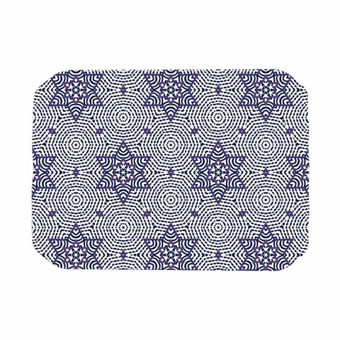 "Laura Nicholson ""Star Power"" Blue Geometric Place Mat - KESS InHouse"