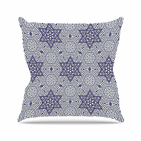 "Laura Nicholson ""Star Power"" Blue Geometric Outdoor Throw Pillow - KESS InHouse  - 1"
