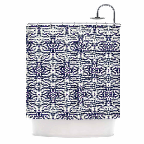 "Laura Nicholson ""Star Power"" Blue Geometric Shower Curtain - KESS InHouse"