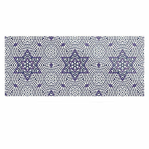 "Laura Nicholson ""Star Power"" Blue Geometric Luxe Rectangle Panel - KESS InHouse  - 1"