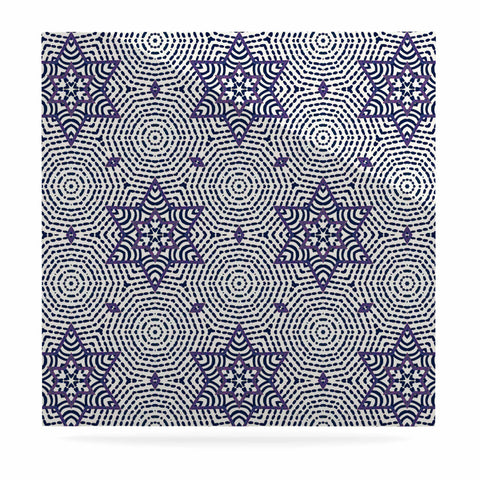"Laura Nicholson ""Star Power"" Blue Geometric Luxe Square Panel - KESS InHouse  - 1"