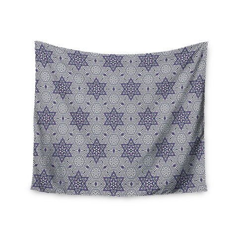 "Laura Nicholson ""Star Power"" Blue Geometric Wall Tapestry - KESS InHouse  - 1"