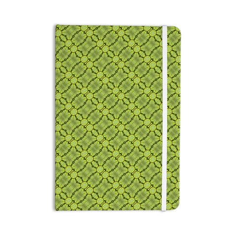 "Laura Nicholson ""Leafy Lozenges"" Green Abstract Everything Notebook - KESS InHouse  - 1"