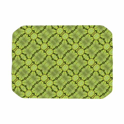 "Laura Nicholson ""Leafy Lozenges"" Green Abstract Place Mat - KESS InHouse"