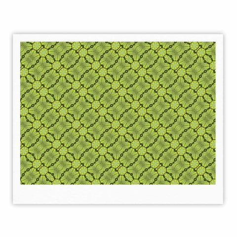 "Laura Nicholson ""Leafy Lozenges"" Green Abstract Fine Art Gallery Print - KESS InHouse"