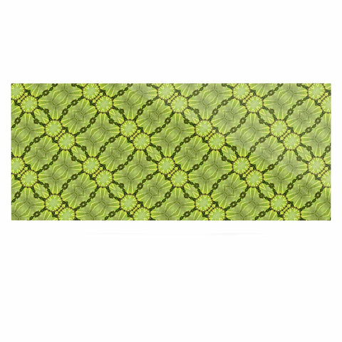 "Laura Nicholson ""Leafy Lozenges"" Green Abstract Luxe Rectangle Panel - KESS InHouse  - 1"