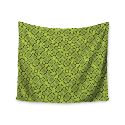 "Laura Nicholson ""Leafy Lozenges"" Green Abstract Wall Tapestry - KESS InHouse  - 1"