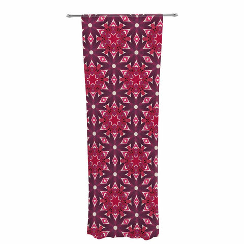 "Laura Nicholson ""Blooming Echinacea "" Magenta Floral Decorative Sheer Curtain - KESS InHouse  - 1"