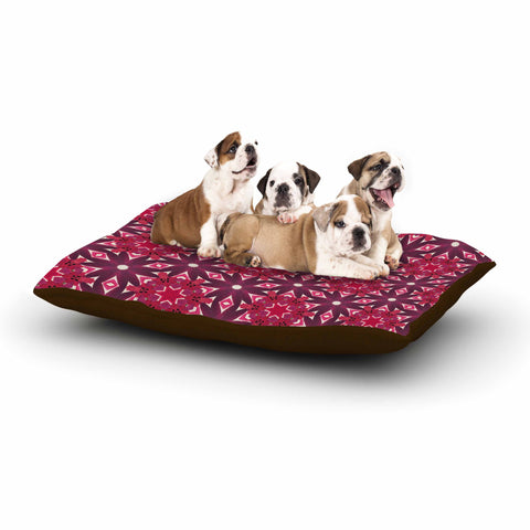 "Laura Nicholson ""Blooming Echinacea "" Magenta Floral Dog Bed - KESS InHouse  - 1"