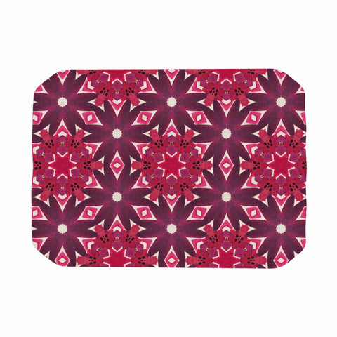 "Laura Nicholson ""Blooming Echinacea "" Magenta Floral Place Mat - KESS InHouse"