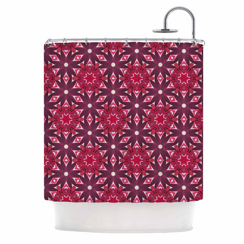 "Laura Nicholson ""Blooming Echinacea "" Magenta Floral Shower Curtain - KESS InHouse"