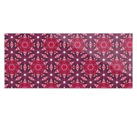 "Laura Nicholson ""Blooming Echinacea "" Magenta Floral Luxe Rectangle Panel - KESS InHouse  - 1"