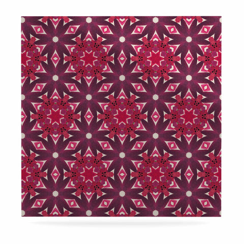"Laura Nicholson ""Blooming Echinacea "" Magenta Floral Luxe Square Panel - KESS InHouse  - 1"