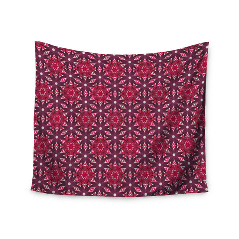 "Laura Nicholson ""Blooming Echinacea "" Magenta Floral Wall Tapestry - KESS InHouse  - 1"