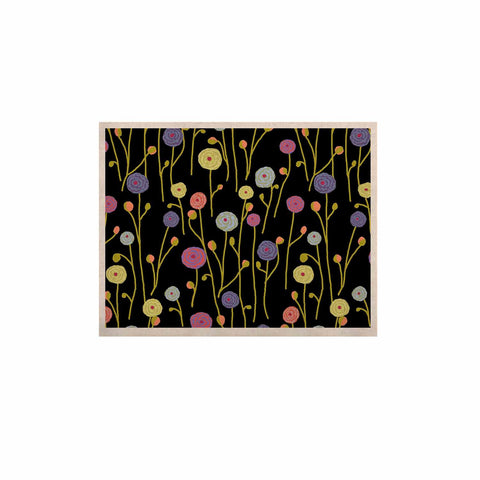 "Laura Nicholson ""Ranunculas On Black"" Yellow Floral KESS Naturals Canvas (Frame not Included) - KESS InHouse  - 1"