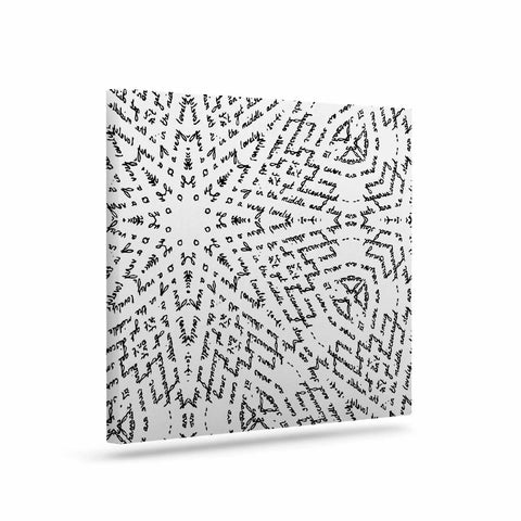 "Laura Nicholson ""Letter Of Advice "" Black White Canvas Art - KESS InHouse  - 1"